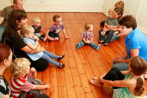 action kids group circle